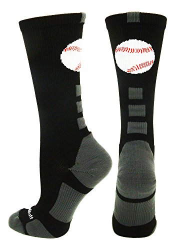 Baseball Logo Crew Socks (Black/Graphite, - Color Shoes Graphite