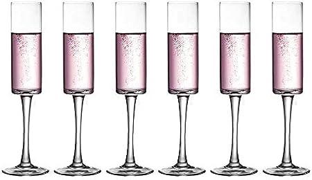 N / A Copa de champán de Cristal, Copa, Copa de tulipán, Copa de Vino espumoso-Copas de champán Rectas-6