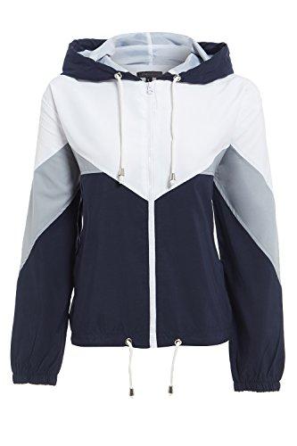 Shelikes Bleu Marine Taille Unique Femme Blouson wr0wqxP4