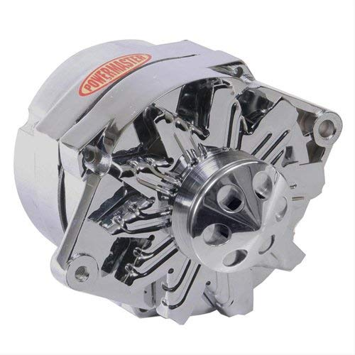 (Powermaster Performance 37293-367 Chrome Alternator (12SI 150A 1V Pulley & Cone 1 or 3 Wire))