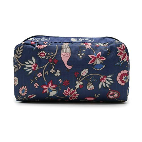 LeSportsac KR Exclusive Collection Rectangular Cosmetic Pouch Bag in Peacock Afternoon