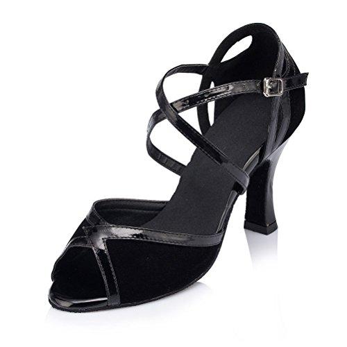 misu - Zapatillas de danza para mujer Negro negro negro