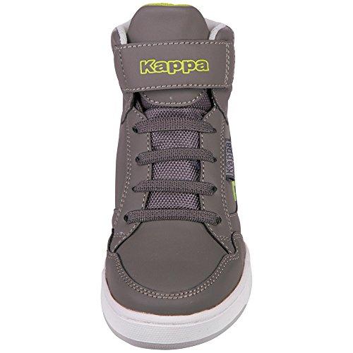 Kappa Unisex-Kinder Forward Mid Teens High-Top Grau (1333 anthra/lime)