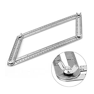 ZERRO Stainless Steel Angle-izer Template Tool Multi-Angle Layout Tools Perfect for Craftsmen Builders Handymen