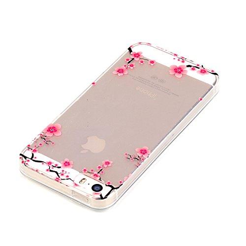 Vanki® Fundas iPhone 5S 5 SE, Suave TPU Funda Parachoques Funda Absorción de Impactos y Anti-Arañazos Case Cover Carcasa Para iPhone 5S 5 SE 7