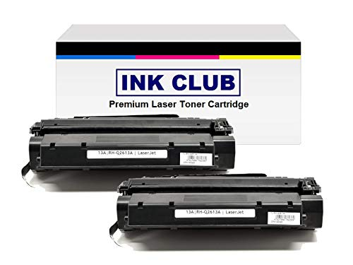 2PK InkClub Compatible Q2613A, 13A Toner Replacement For LaserJet 1300, LaserJet 1300n Printers