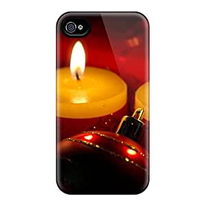 MOQBvwO1322OKLqV Tpu Phone Case With Fashionable Look For Iphone 4/4s - Christmas Candles Holiday