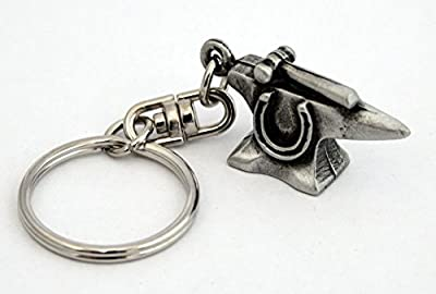 Solid Pewter Blacksmith's Anvil Keychain
