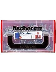 Fischer 534076 Fixtainer - de feestmaker-box, pluggenset, spreidpluggen SX, gipsplaatpluggen, metaal GKM, Fast & Fix, 212 delen