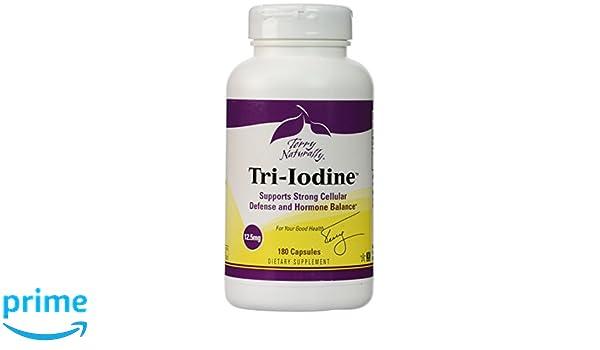 Naturalmente Terry, Terry Naturalmente, Tri-yodo, 12,5 mg, 180 cápsulas - EUROPHARMA: Amazon.es: Salud y cuidado personal