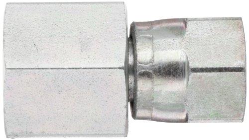 EATON Aeroquip 2242-6-6S Female 37 Degree JIC Swivel to Female Pipe, JIC 37° & NPT End Types, Carbon Steel, 3/8 JIC(f) x 3/8 NPT(f) End Size, 3/8'' Tube OD, 3/8'' Female Pipe Size by Aeroquip (Image #2)