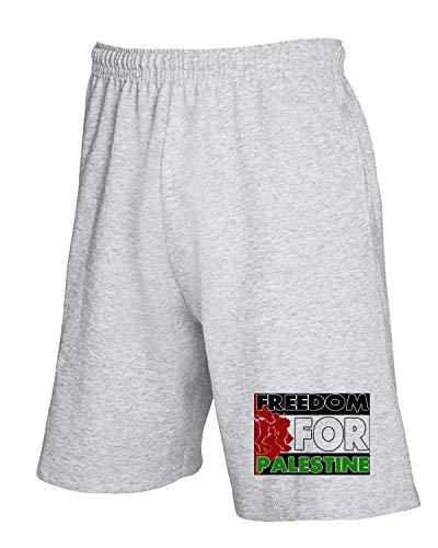 Grigio Palestine2 Free Tuta Tm0561 Pantaloncini T shirtshock k8wXn0OP
