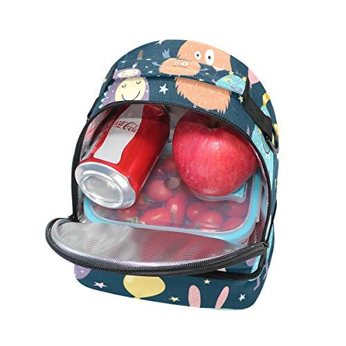 à lunch réglable Monstres à isolé Pincnic avec Tote Box Alinlo l'école pour Petits bandoulière Sac txUwTgg1Zq