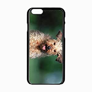 iPhone 6 Black Hardshell Case 4.7inch dog running grass Desin Images Protector Back Cover