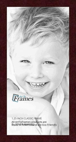 ArtToFrames 12x24 inch Classic Mahogany Frame Picture Frame, WOMFRBW26039-12x24