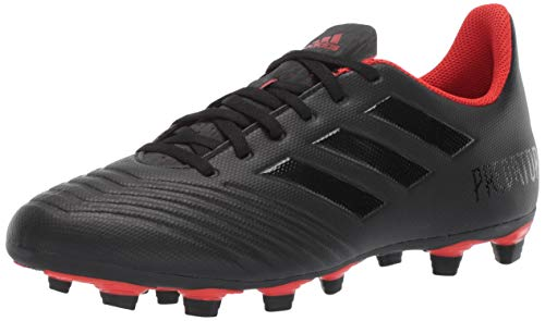 adidas Men's Predator 19.4 Firm Ground, Black/Active red, 11.5 M US