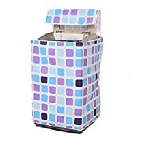 BESTOMZ Top Load Washer Dryer Cover Washing Machine Cover Zippered (Blue Purple Plaid)