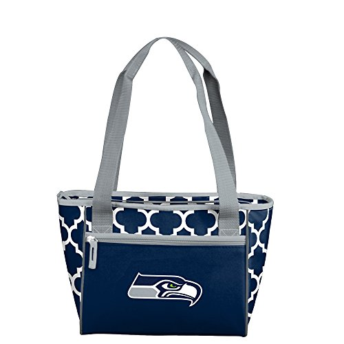 Logo Brands NFL Seattle Seahawks 16 Can Cooler Tote, Navy, One Size by Logo Brands