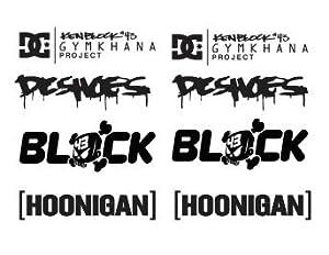 1 set ken block dc shoes hoonigan aufkleber sticker decal - Hoonigan logo ...
