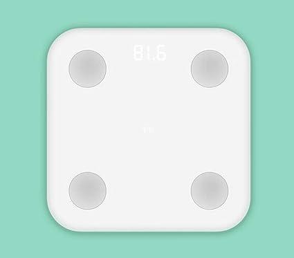 Exing Báscula de Grasa Corporal Bluetooth Báscula de pesaje electrónica Inteligente Báscula de Pesas para Adultos