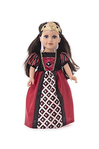 Little Adventures Queen of Hearts Matching Doll Dress (Crown Included)