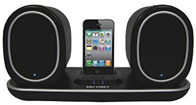 Mutant MIG-WS203 Media Ellipse Weatherproof Rechargeable Wireless Docking Music Station for iPhone from STI Certified Products, Inc.