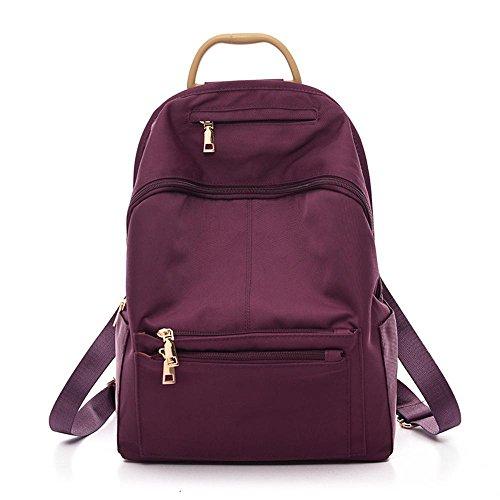Aoligei Double sac à bandoulière fashion femme toile de nylon version coréenne voyage sac à dos Collège vent grande capacité cartable D
