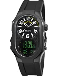 Philip Stein Mens 3BRB-AD-RB Signature Black Plated Chronograph Black Rubber Strap Watch