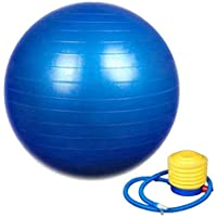 SAMPLUS MALL (LABEL) Shreeji Ethnic Exercise Non-Slip Stability Ball with Pump (75 cm , Blue)