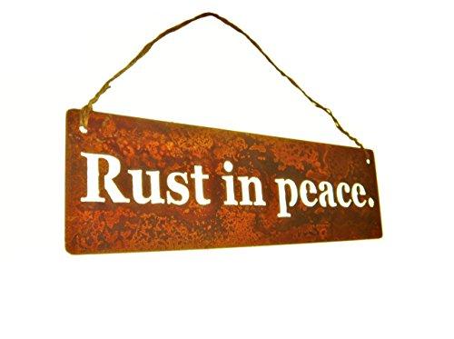 Rust in peace. Metal Garden Hanger