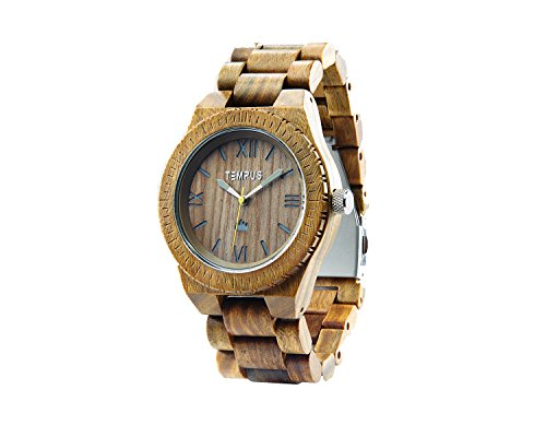 TEMPUS Silvestre Sandalwood Wooden Wristwatch
