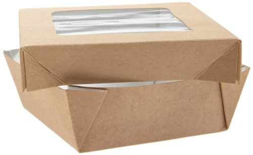 PackNWood 210KRAYB115 Small Kray Box with Window Lid - 12 oz - 3.9 x 3.9 x 1.6'' - 250 per case by PacknWood (Image #3)