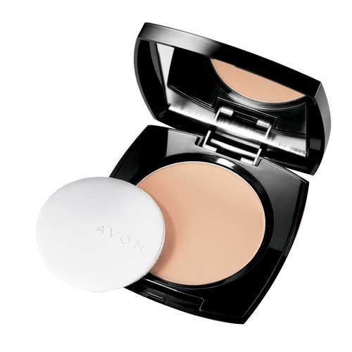 Avon Ideal Flawless Pressed Powder Foundation in Light Medium