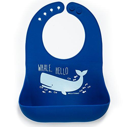 Bella Tunno Whale Hello Boy Wonder Bib, Blue