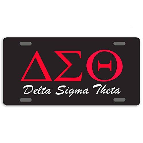 Black Delta Sigma Theta Custom Personalized License Plate, Front License Auto Tag, Vanity Car Accessories 6