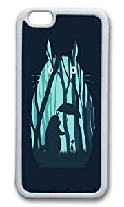 Apple Iphone 6 Case,WENJORS Adorable My Neighbor Totoro Soft Case Protective Shell Cell Phone Cover For Apple Iphone 6 (4.7 Inch) - White