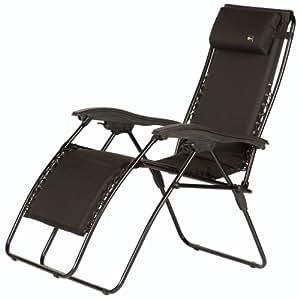 Faulkner 48963Malibu estilo negro acolchado tamaño estándar sillón reclinable con brazos de plástico