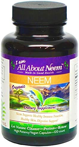 Premium Herbal Neem Leaf Capsules Organic 2 Bottle Set 120 Count Per Bottle – 1,500mg Each Capsule Triple Strength – Natural Body Detox Cleanse Blood Boosts Energy – Made in USA