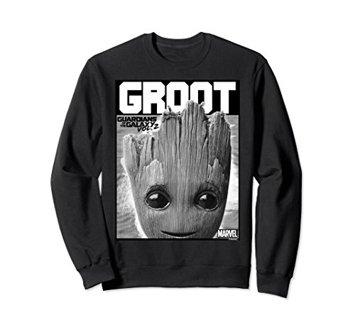 Unisex Marvel Guardians Vol. 2 Baby Groot Close-Up Sweatshirt Medium (Baby Adult Sweatshirt)