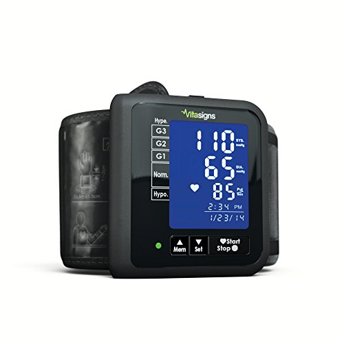 Vitasigns VS47129-0200 Wrist Blood Pressure Monitor, Black