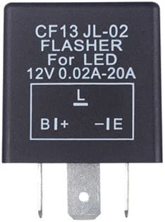 HOUTBY 5 X 3 Pin CF13 Electronic Car Vehicle Motorcycle Flasher Relay to fix LED light Hyper Flash Blink