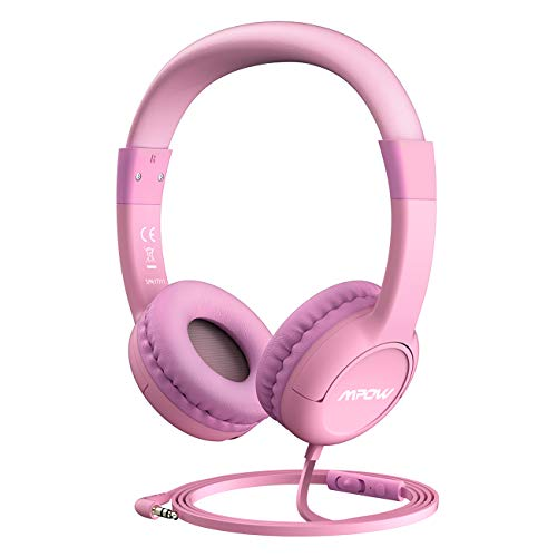 Mpow [Update] Kids Headphones with 85dB Volume Limited Hearing Protection & Volume and Mic Control, On-Ear Headphones with Music Sharing Function, Best Children Headphones for School, Home and Travel