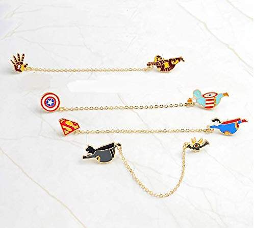 Astra Gourmet 4pcs Cute Superhero Enamel Lapel Pin Set - Cartoon Super Hero Brooch Pin Badges for for Unisex Child Clothes Bags Backpacks Clothing Decorate (Superhero Pin)