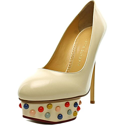 charlotte-olympia-dolly-studs-women-us-8-white-heels