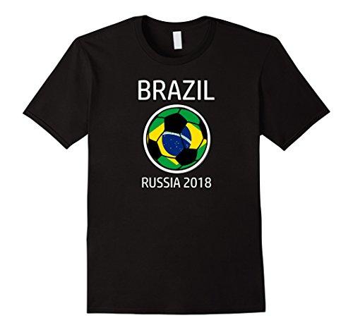 Brazil Soccer Team Russia 2018 T Shirt Football Fan