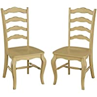 Home Styles Belle Dining Chairs, Yellow