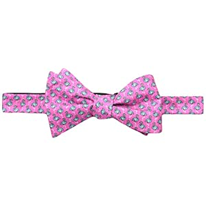 Tommy Hilfiger Men's Flamingo Print Self Bow Tie