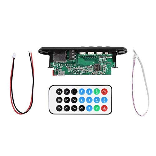 (Bluetooth MP3 WMA Decoder Board 12v FM Wirelss Audio Module Support USB TF FM Hands-Free Call)