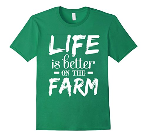 Hawaii National Costume For Men (Mens Perfect Farmer T-shirt Gift LIFE is better on the FARM 3XL Kelly Green)
