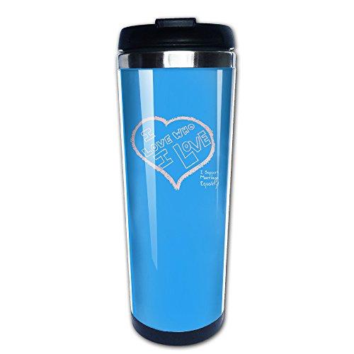[NICO Custom I Love Who I Love Stainless Steel Coffee Mug For Indoor & Outdoor Office School Gym Use] (Captain Murphy Costume)